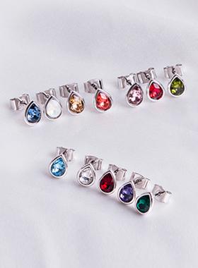 swarovski birthstone earring