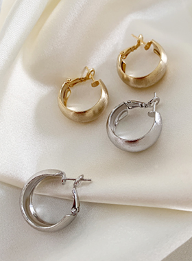 Suji bold ring one touch earring