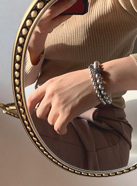 スワロフスキー黒真珠ブレスレット