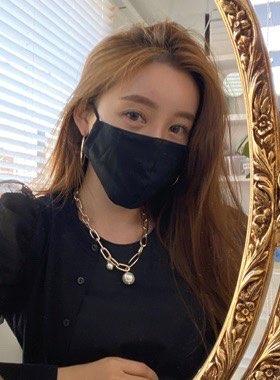 ブラック綿マスク