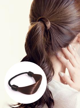 ポニースタイル部分かつらの髪ひも