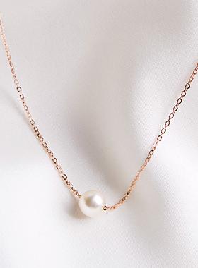 14Kゴールドミニ真珠の玉のネックレス