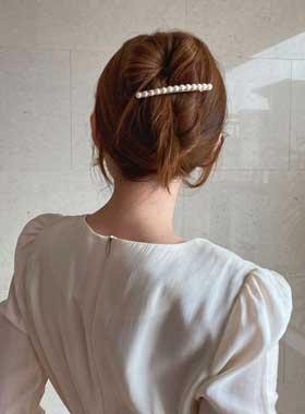 滴真珠ヘアピン