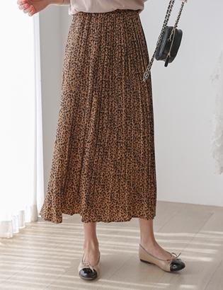 虎紋百褶半身裙 C082622