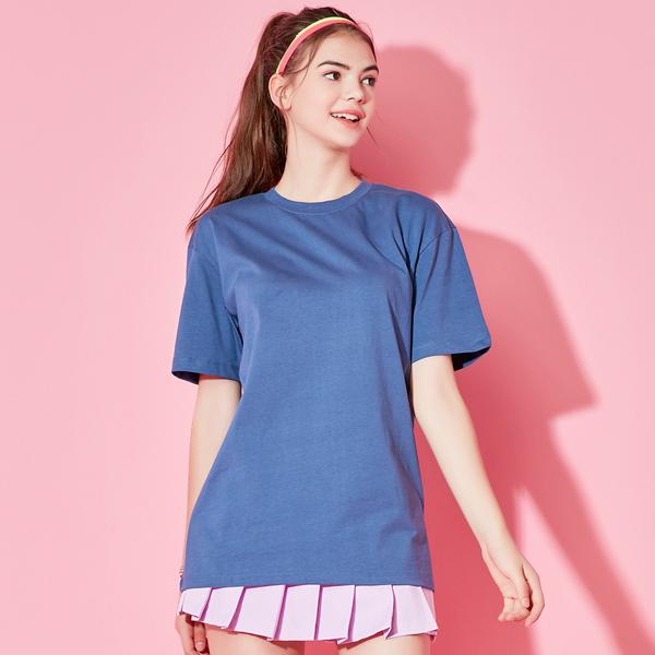 全天短袖T恤衫深蓝色