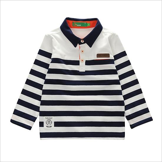 [EVISU] EKM1PT001_NA儿童条纹马球T恤 -  KIDS