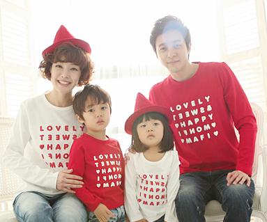 幸福党圆领家庭长袖_13A01