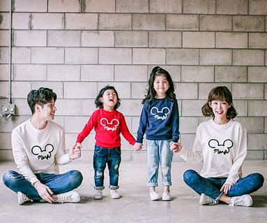 "<font color=""ffffff"">[家庭运动衫和男女通用] <br></font> Monty Mouse运动衫家庭长袖_17C06"