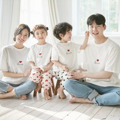 Love Fang Fang短袖体恤家庭21B05 /家庭写真服装