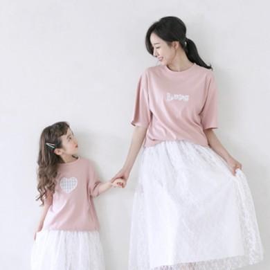 天空是短袖体恤妈妈和宝宝21B08WK /全家福,全家福服装