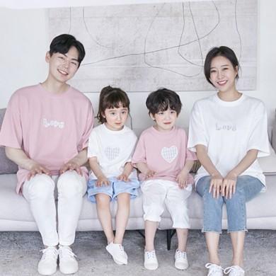 天空是短袖体恤家庭21B08 /家庭外观,全家福服装