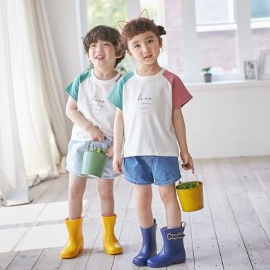 情趣短袖体恤儿童21B02K /亲子装,家庭写真服装