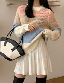 Wool pleats skirt