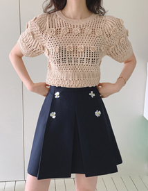 Beads flower skirt