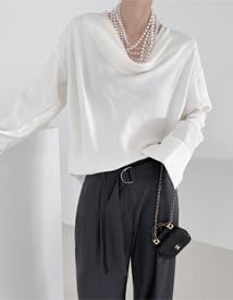 Drape neck blouse