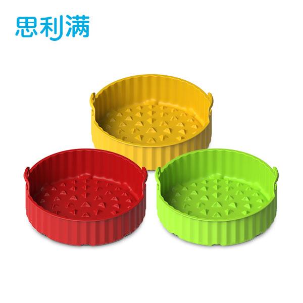 硅胶空气炸锅烘烤蓝(中) WSK4182