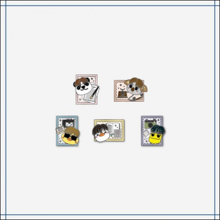 2PM [Dear. HOTTEST] OFFICIAL MD 핀뱃지 PIN BADGE