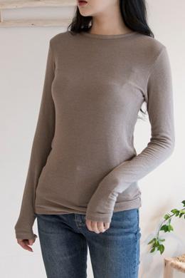 P9267 Soft Rayon Wool Blend Long Sleeve Tee