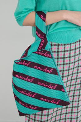 P9273 Unique pattern knit shoulder bag (tote bag)