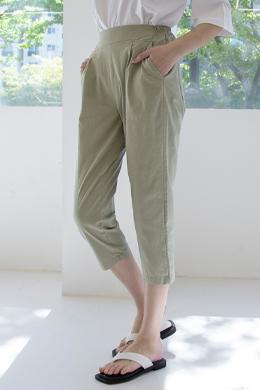P9684 Summer linen blend 7 pants (SML)