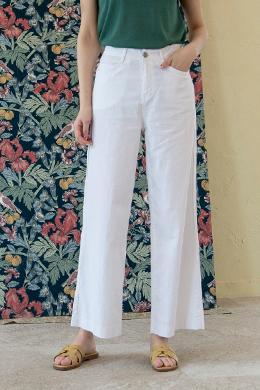 P9753 Linen Cotton Span Wide Pants (SML)