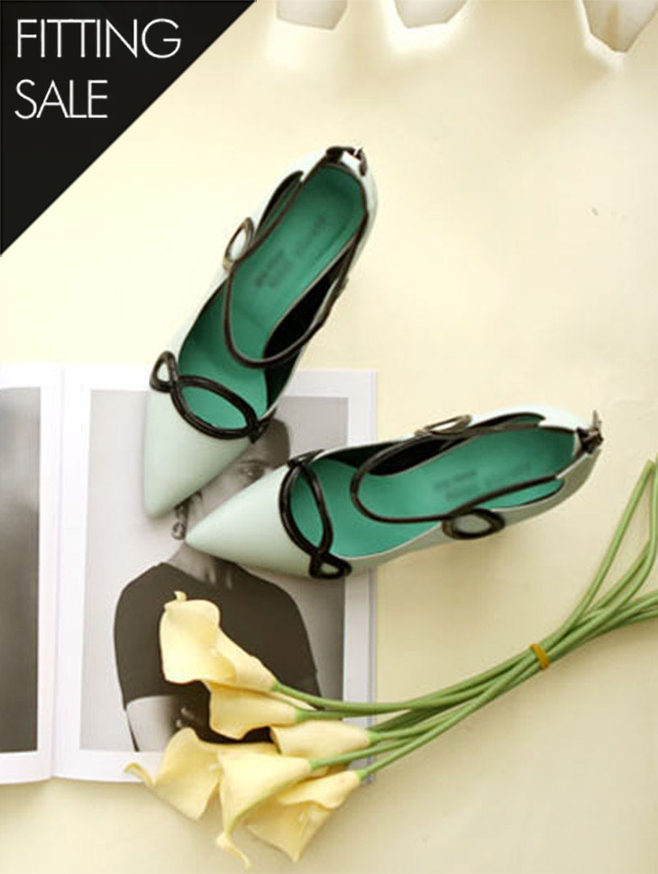 PS1563威比皮/束带独特鞋跟*手工制作*配件促销*