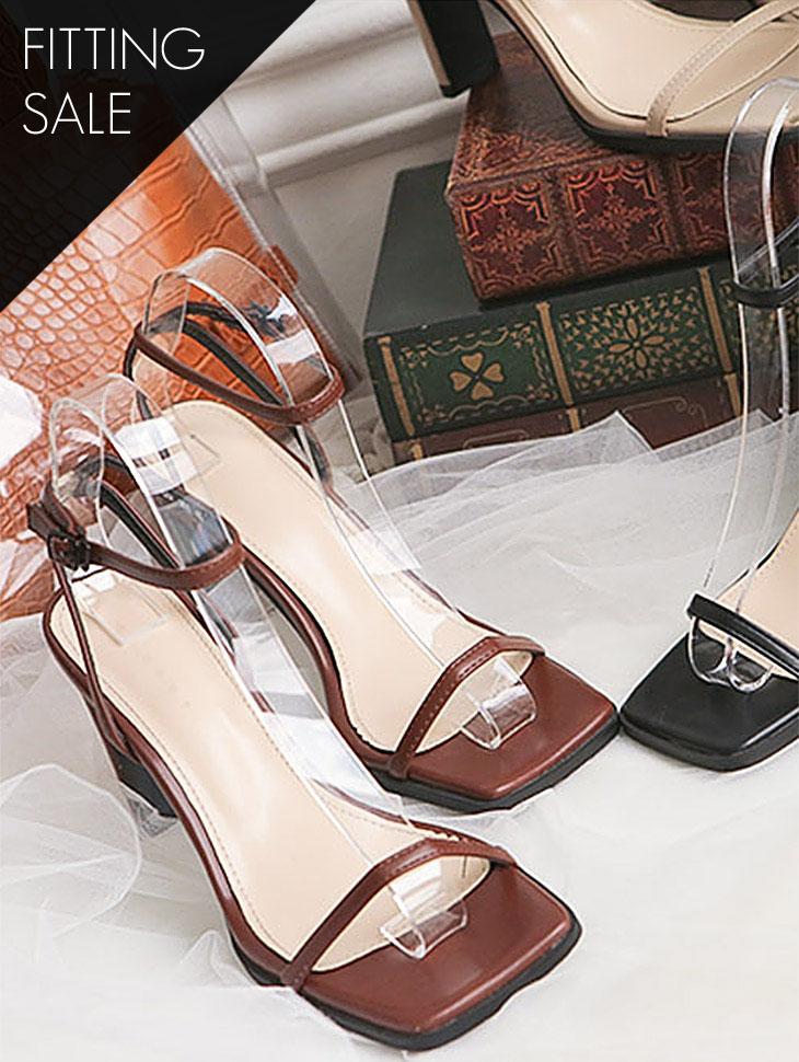 PS1698 方形束带高跟鞋 *试穿优惠*