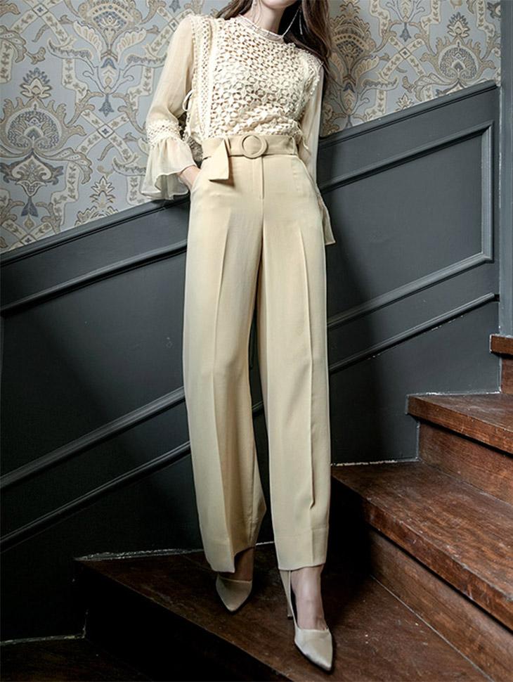 P1903 托盘干燥宽松长裤短裤(腰带套)(18号重新储存)