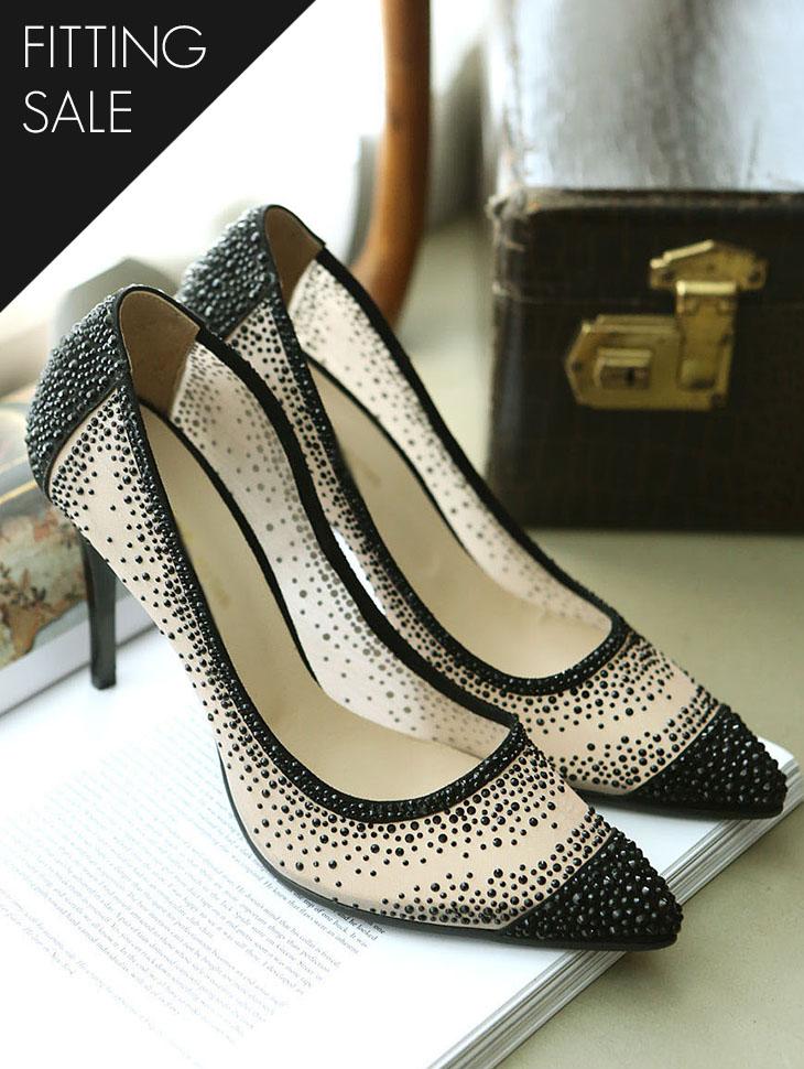 PS1818 宝石 配色 浅口式鞋 跟鞋*HANDMADE*试穿优惠*