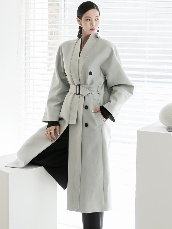 J974 缝线风衣(腰带组合)