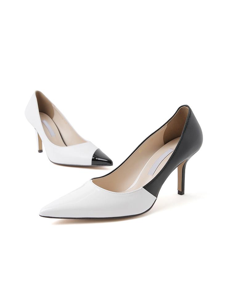 HAR-678 配色真实皮革高跟鞋*手工制作*