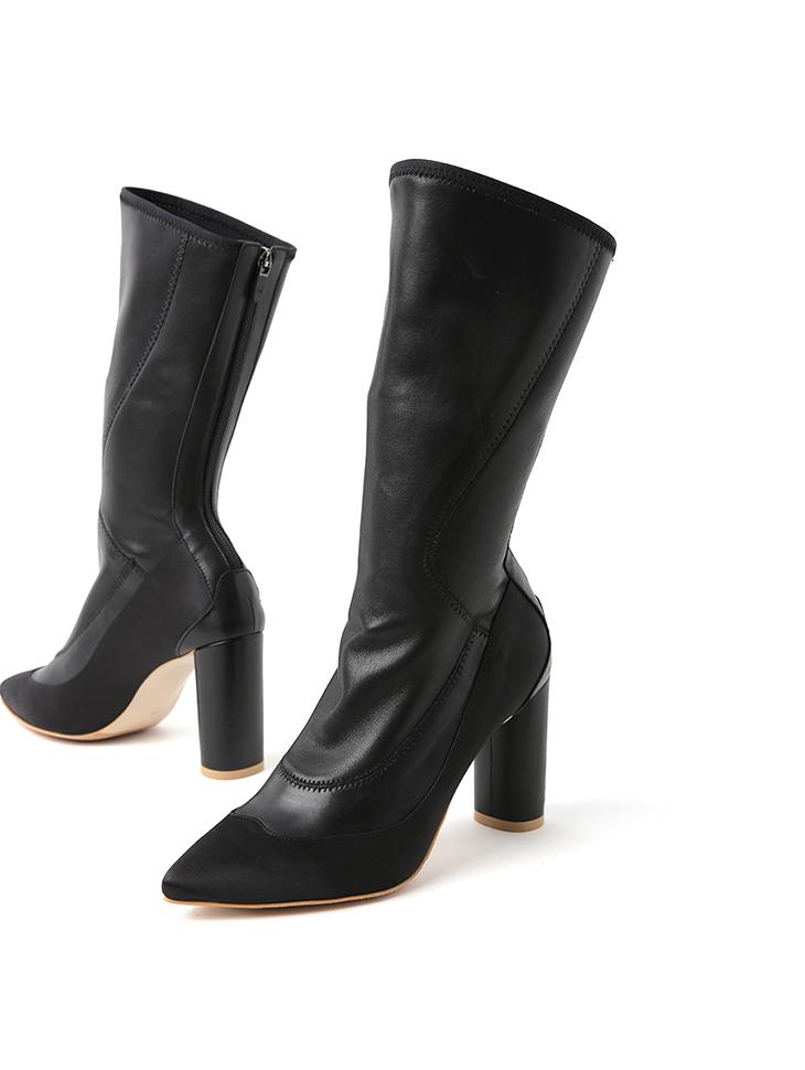 HAR-674 真实皮革高腰靴*手工制作*