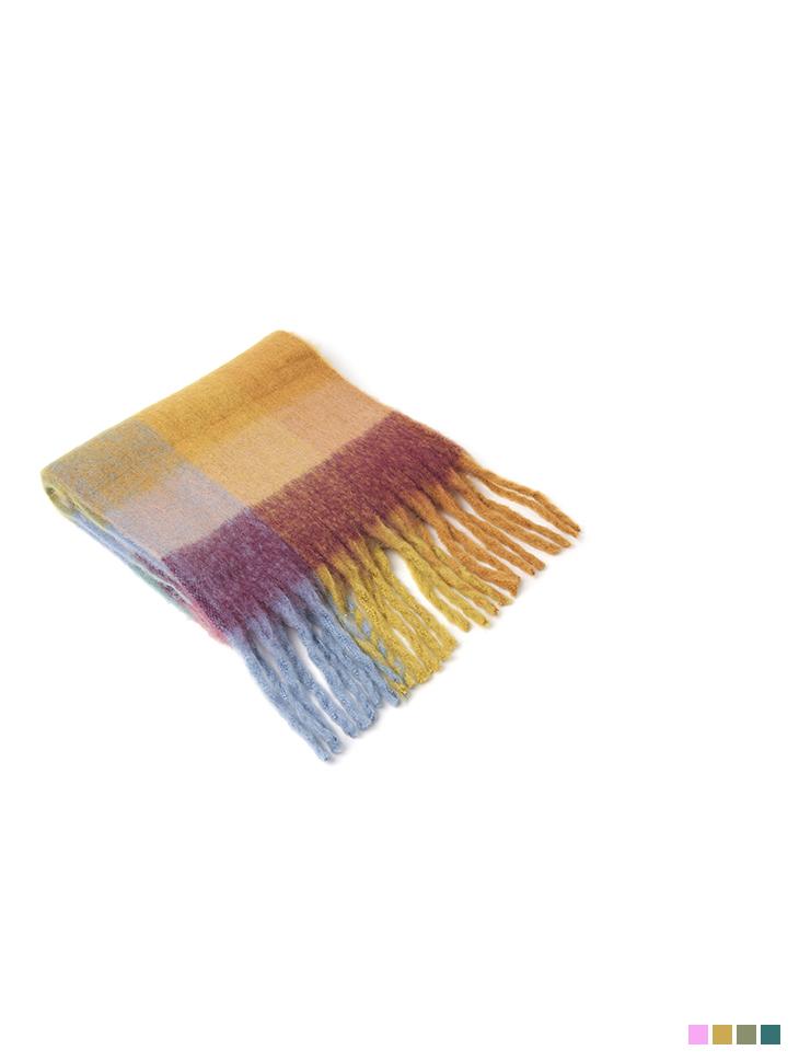 AS-1489 格纹色混围巾