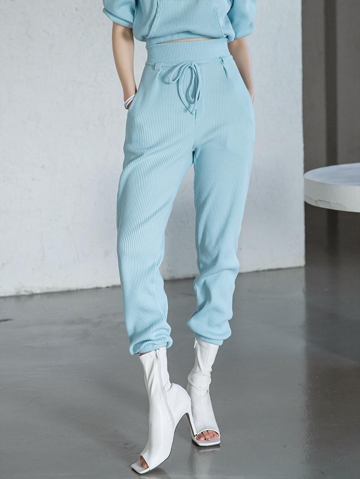 P2387 绑带修身缩口裤(绑带组合)