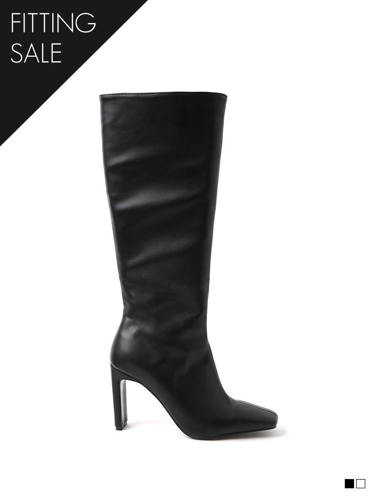 PS2177 方形皮革长筒靴*试穿优惠*