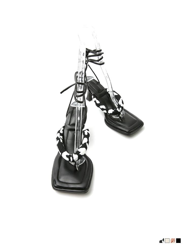 AR-2796 垫两用人字脱高跟鞋凉鞋(绑带组合)