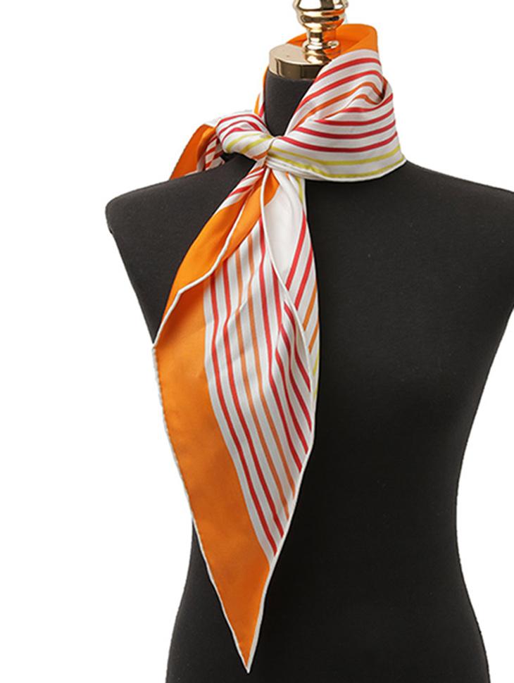 AS-1515 色彩奥布利克曲线丝绸领巾