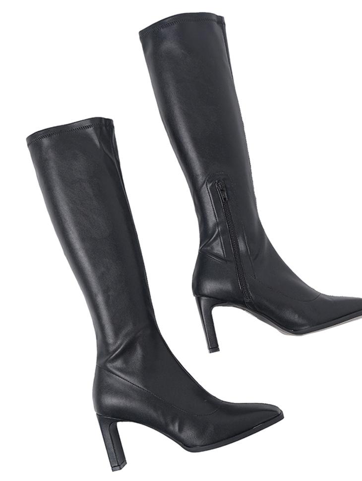AR-2819 皮革细跟高跟鞋高跟鞋长款靴