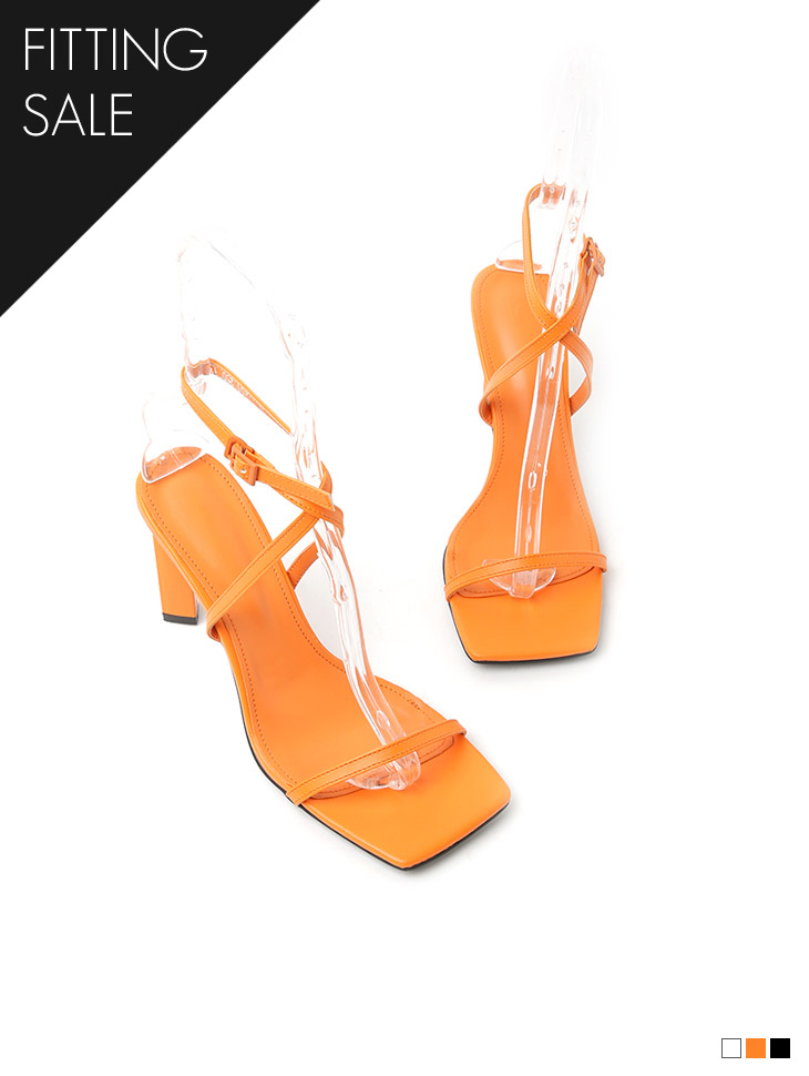 PS2252 方形绑带高跟鞋凉鞋*试穿优惠*