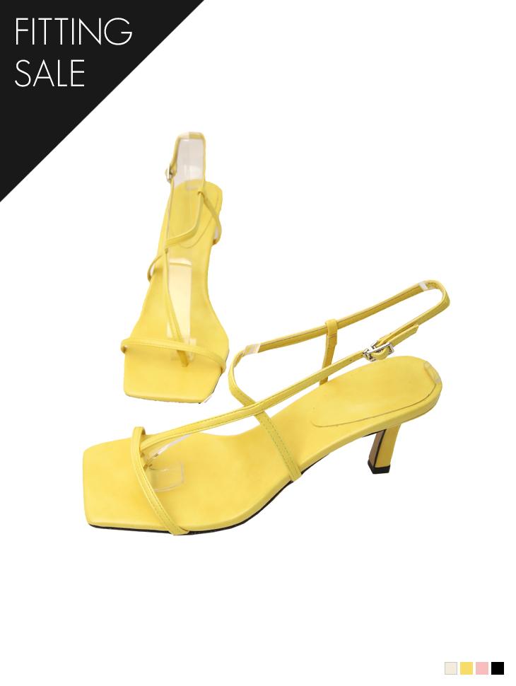 PS2257 薄绑带人字脱高跟鞋凉鞋*试穿优惠*