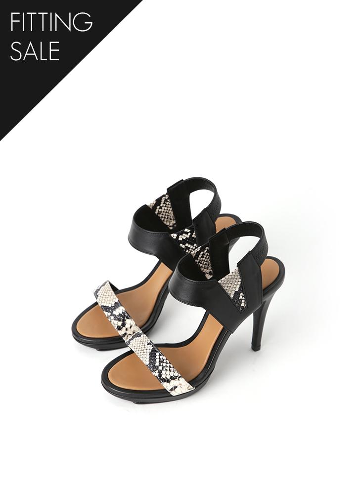PS2281 蛇皮纹高跟鞋凉鞋*手工制作**试穿优惠*