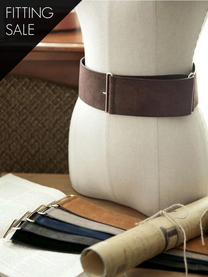 PS2322 羊羔皮金色扣环腰带*试穿优惠*