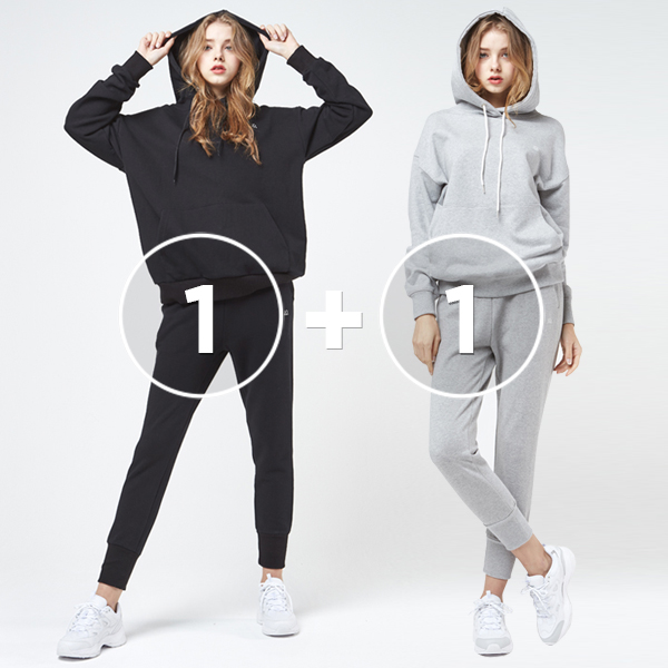 [1+1 EVENT] Icon Logo<br> Hood Jogger Pants Set