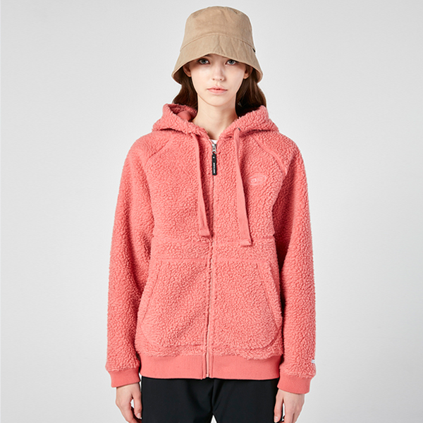 "<font color=""red"">2020 F/W new release!</font> <br> In and Out Dumble Fleece napping Hood Zip up <br> Indie Pink (for both men and women)"