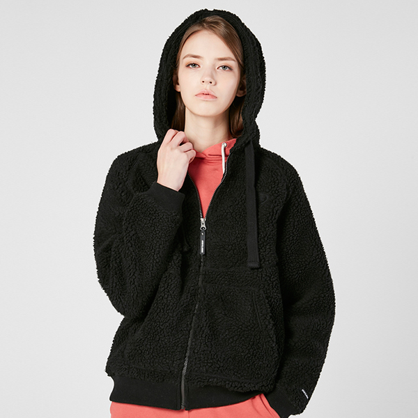 "<font color=""red"">2020 F/W new release!</font> <br> In and Out Dumble Fleece napping Hood Zip up <br> Black (unisex)"