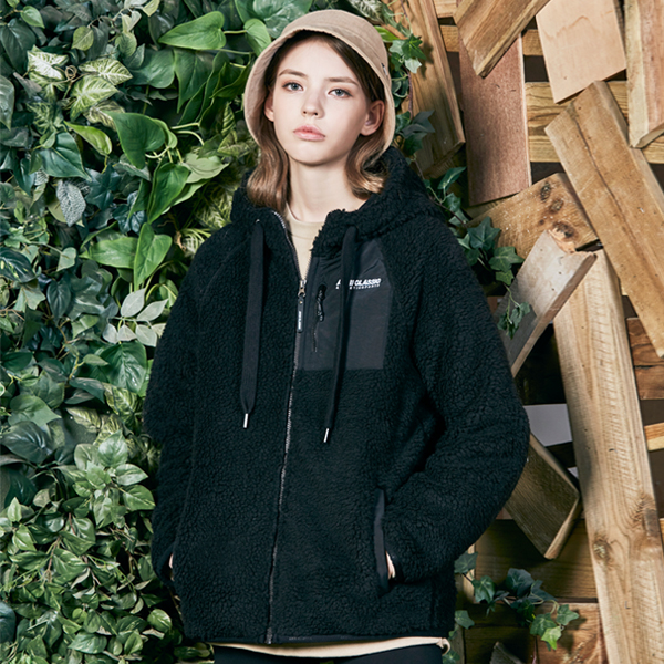 "<font color=""red"">2020 F/W new release!</font> <br> Booklet Fleece Hoodies zip up VER.2 <br> Black (unisex)"