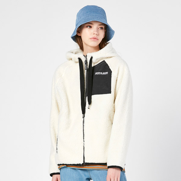 "<font color=""red"">2020 F/W new release!</font> <br> Booklet Fleece Hoodies zip up VER.2 <br> Ivory (male and female)"