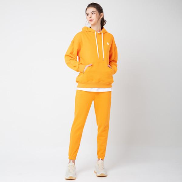 All Day Basic<br> Hood Jogger Pants Set<br> Light orange (for both men and women)
