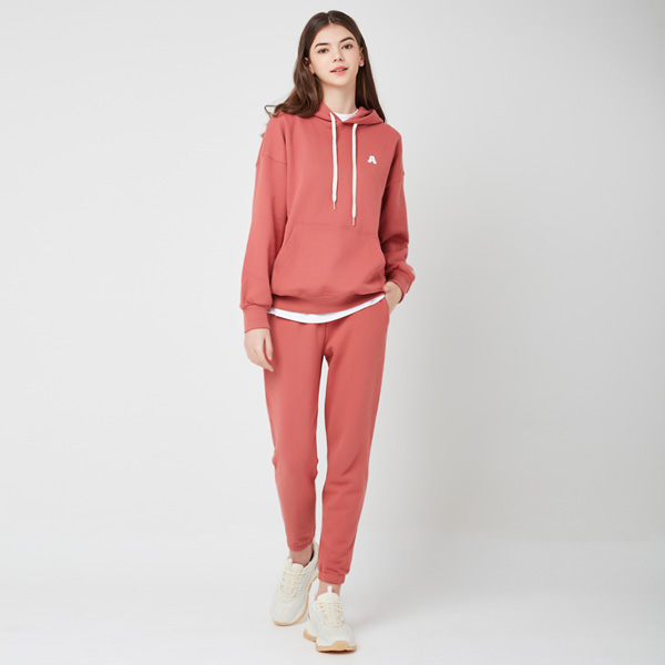All Day Basic<br> Hood Jogger Pants Set<br> Red Bean (for both men and women)