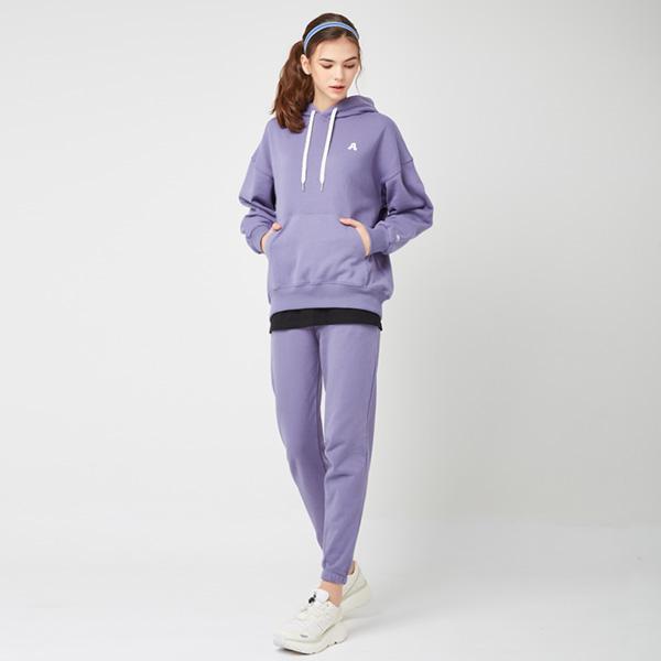 All Day Basic<br> Hood Jogger Pants Set<br> Light Purple (for both men and women)